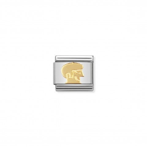 Composable_Classic_Link_with_Hippie_Face_Link_with_Hippie_Face_in_stainless_steel_and_gold
