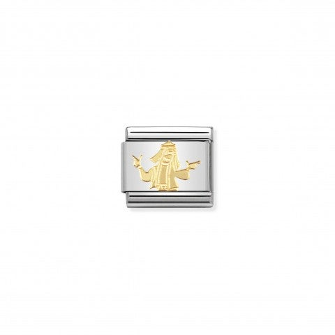 Composable_Classic_Link_with_Hippie_Link_with_Hippie_Guy_in_stainless_steel_and_yellow_gold