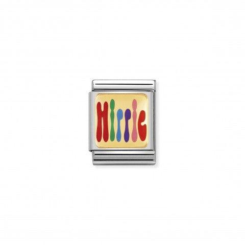 Composable_Big_Link_mit_Hippie_Schriftzug_Link_in_Edelstahl_zur_Hippie-Kultur