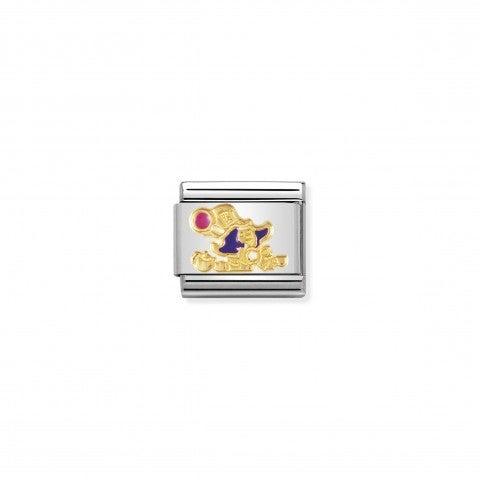 Link_Composable_Classic_Il_cappellaio_matto_Link_con_Smalto_colorato_e_Oro_giallo