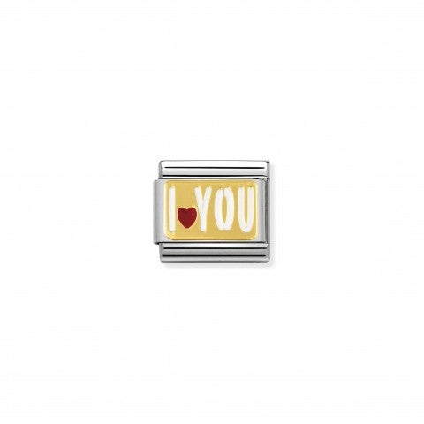 Composable_Classic_Link_I_LOVE_YOU_white_Enamel_Stainless_steel_Link_with_18K_gold_Love_messages