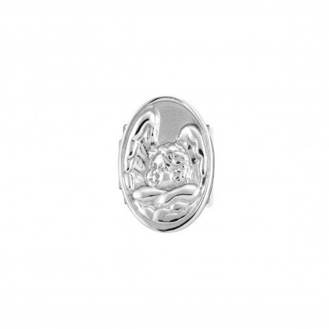 Composable_Classic_Royal_Cherub_Link_Link_in_stainless_steel_and_sterling_silver_with_symbol
