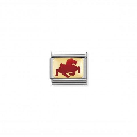 Link_Composable_Classic_Cavallo_Rosso_Link_in_Oro_giallo_con_simbolo_dello_zodiaco_cinese