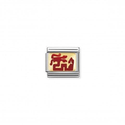 Composable_Classic_Link_Roter_Drachen_Link_rote_Emaille_und_chinesisches_Sternzeichensymbol