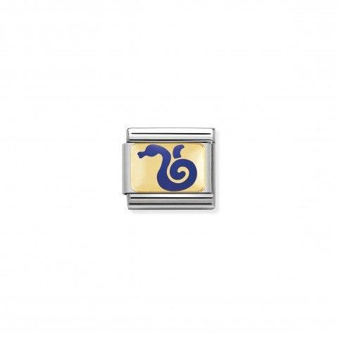 Link_Composable_Classic_Serpente_blu_Link_con_simbolo_della_cultura_cinese_in_Oro