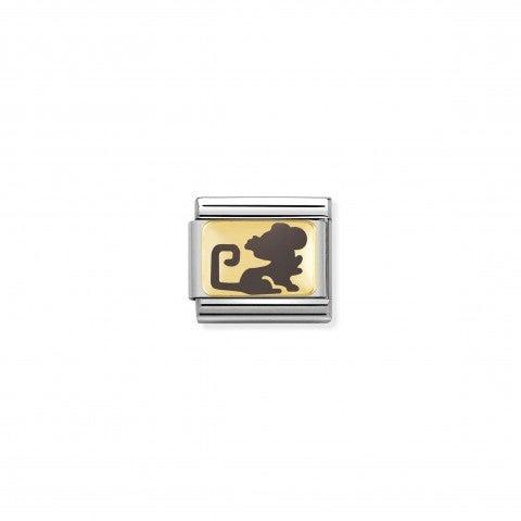 Link_Composable_Classic_Topo_grigio_Link_in_Oro_giallo_con_simbolo_cinese