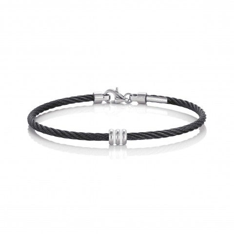 Portofino_Bracelet_with_one_cylinder_Bracelet_in_black_and_details_in_Stainless_Steel