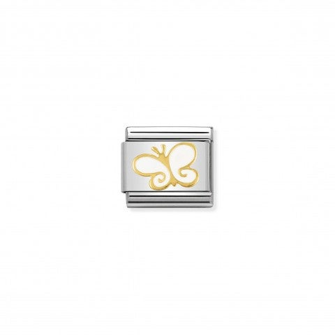 Composable_Classic_Link_white_and_Gold_Butterfly_Link_in_18K_gold_and_enamel_with_Flowers_and_Animals