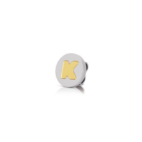 Charm_MyBonBons_with_Letter_K_in_Gold_Charm_MyBonBons_in_stainless_steel_with_Initial
