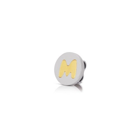 Charm_MyBonBons_con_Lettera_M_in_Oro_Charm_MyBonBons_in_Acciaio_e_iniziale_in_Oro_750