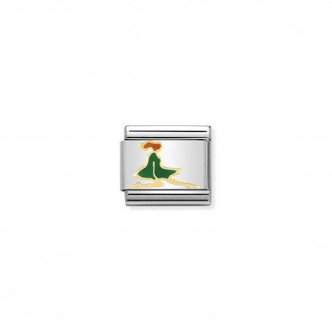 Link_Composable_Classic_Ballerina_Irlandese_Link_con_simbolo_irlandese_in_Acciaio_e_Oro750