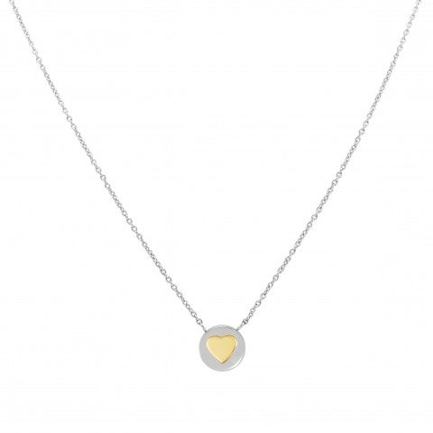 Necklace_with_Heart_symbol_in_Gold_Necklace_in_stainless_steel_with_Heart_in_18K_gold
