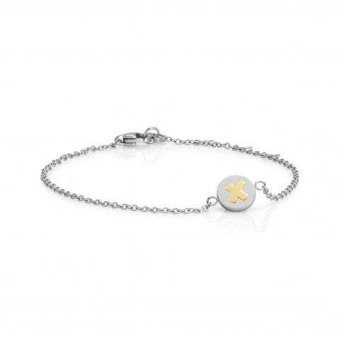Bracelet_with_Letter_X_in_Gold_Bracelet_in_stainless_steel_with_disk_in_18K_gold