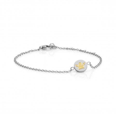 Bracelet_avec_symbole_Ange_en_or_Bracelet_en_acier_inoxydable_et_symbole_Protection_en_or_18_carats
