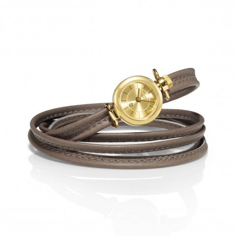 Watch_with_leather_strap_with_adjustable_knot_Customisable_watch_with_gold_dial