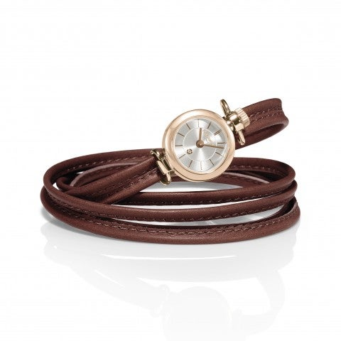 Time_Collection_Watch_with_leather_strap_Customisable_watch_with_silver_dial