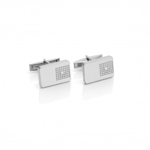 Style_Cufflinks_with_White_Zirconia_Cufflinks_in_stainless_steel_for_men