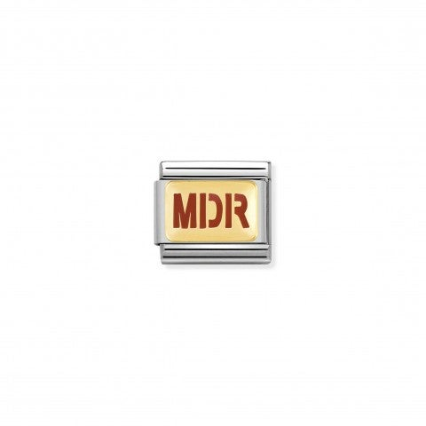 Composable_Classic_Link_MDR_writing_in_Enamel_Stainless_steel_Link_with_18K_gold_and_enamel_Messages