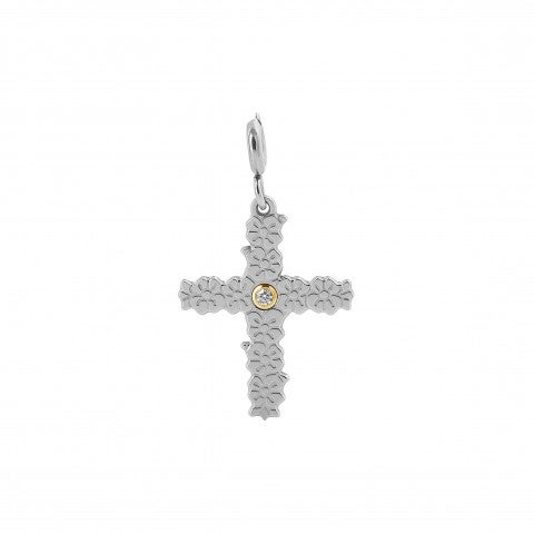 Symphony_Pendant_with_Cross_Symbol_Stainless_steel_and_gold_pendant_with_protection_symbol