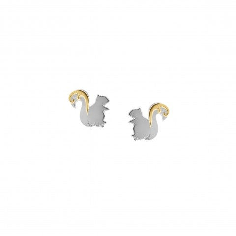 Symphony_Earrings_with_Squirrel_Symbol_Earrings_in_stainless_steel_and_gold_with_nature_symbol