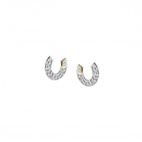 Symphony_Earrings_with_Horseshoe_Earrings_in_steel_and_18K_gold_with_lucky_symbol