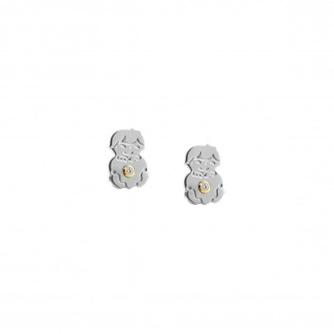 Symphony_Earrings_with_Little_Boy_Earrings_in_stainless_steel,_18K_gold_and_Cubic_Zirconia