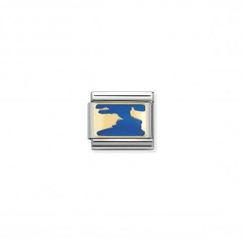 Link_Composable_Classic_Stretto_di_Gibilterra_Link_con_simbolo_geografico_in_Acciaio_e_Smalto