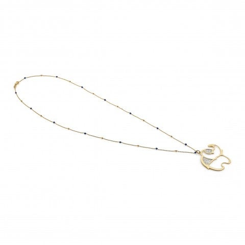 Long_Jasmine_Necklace_with_Elephant_Necklace_in_silver,_gold_and_quartz_with_large_pendant
