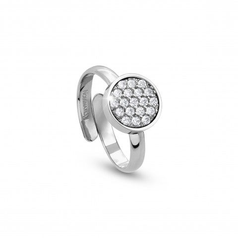 Ring_with_round_disk_and_Cubic_Zirconia_Ring_in_stainless_steel_and_Cubic_Zirconia