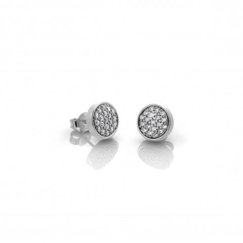 Earrings_with_round_disk_and_Cubic_Zirconia_Earrings_in_stainless_steel_and_Cubic_Zirconia
