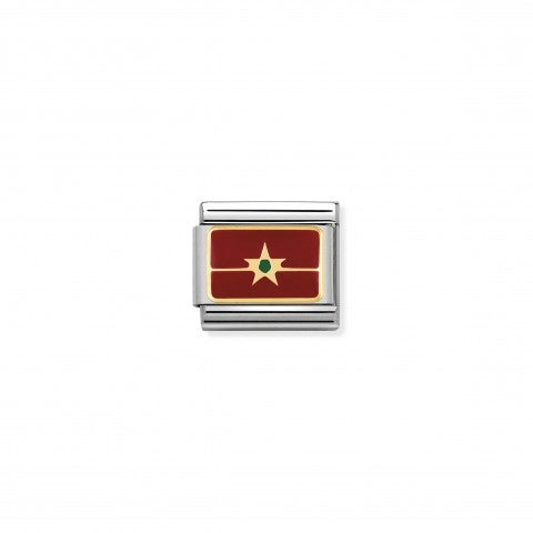 Link_Composable_Classic_Bandiera_Marocco_Link_con_bandiera_africana_con_dettagli_in_Oro750