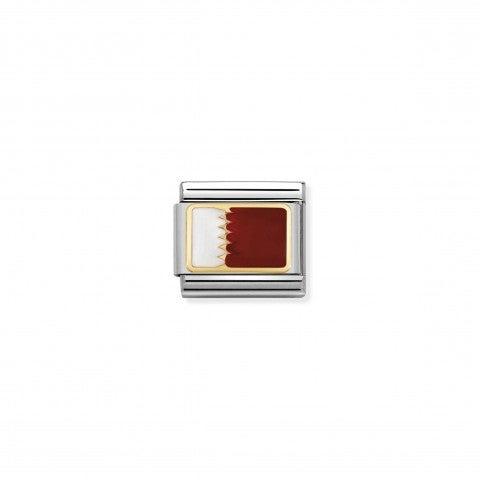 Link_Composable_Classic_Bandiera_Qatar_Link_in_Acciaio_con_la_bandiera_del_Qatar