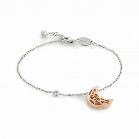 Romantica_Bracelet_with_Moon_in_Rose_Gold_Bracelet_in_sterling_silver_with_Moon_pendant