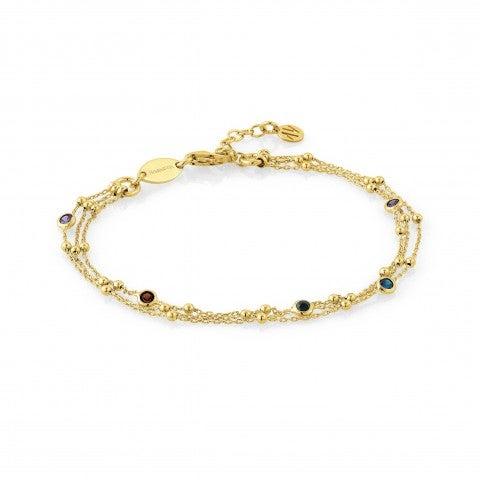 Bracelet_trois_rangs_en_argent_avec_Cubic_Zirconiums_colorés_Bracelet_en_acier_inoxydable_et_pierres_colorées