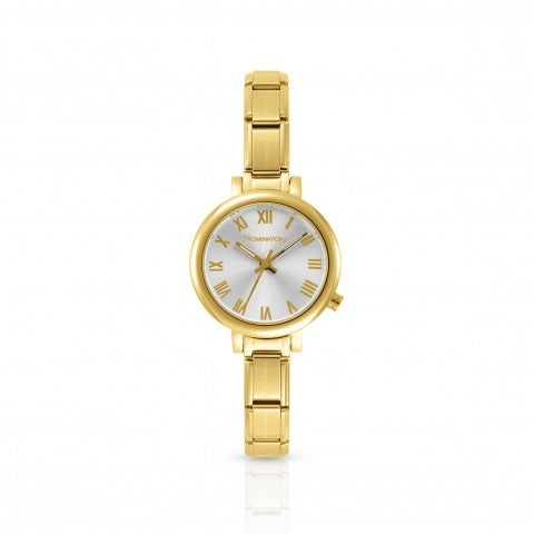 Watch_with_Composable_bracelet_with_Gold_finish_Composable_Classic_Watch_with_stainless_steel_case