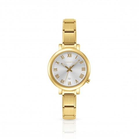 Time_Collection_Watch_in_Stainless_Steel_Classic_Composable_Watch_with_gold_finish