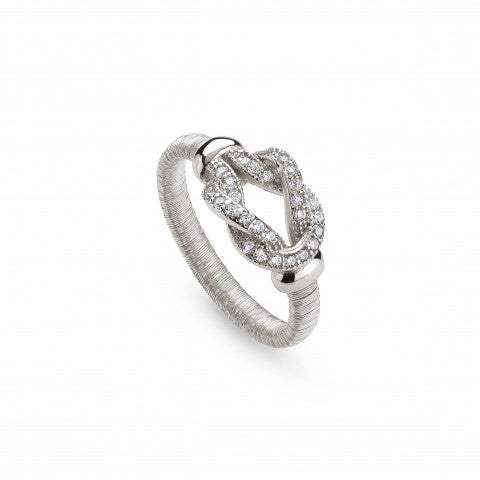 Silver_Ring_with_Knot_and_Cubic_Zirconia_Ring_in_sterling_silver_with_stones