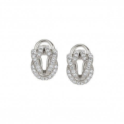 Hoops_Knot_Earrings_in_Sterling_silver_and_Cubic_Zirconia_Earrings_with_Knot_in_white_Stones