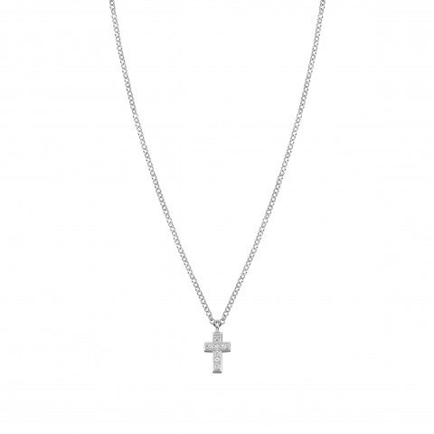 Necklace_in_Silver_with_Cross_Sterling_silver_necklace_made_with_Swarovski_Zirconia_Spirituality