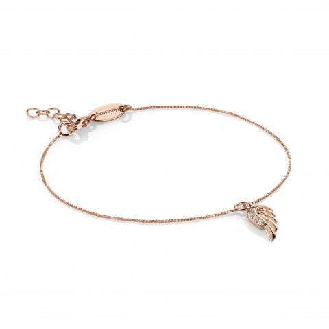 Bracelet_with_Angel's_Wing_Pendant_and_Stones_9K_rose_gold_and_Cubic_Zirconia_bracelet_with_pendant
