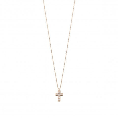 Necklace_with_Cross_Pendant_and_Stones_Necklace_with_Cross_pendant_in_9K_rose_gold
