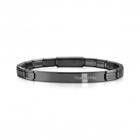 Trendsetter_Stainless_Steel_Bracelet_in_coloured_PVD_finish_Bracelet_for_him_with_plaque_in_several_colours