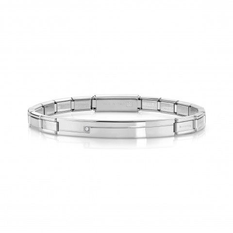 Trendsetter_Stainless_Steel_Bracelet_with_Swarovski_Bracelet_in_steel_with_plate