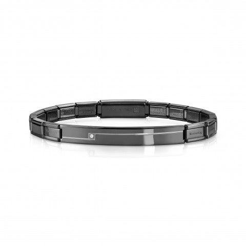 Trendsetter_Stainless_Steel_coloured_Bracelet_with_Swarovski_Bracelet_in_steel_with_coloured_PVD_finish