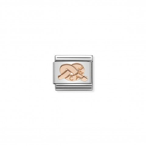 Composable_Classic_Link_Knot_Care_Knot_Link_in_stainless_steel_with_9K_rose_gold_symbol