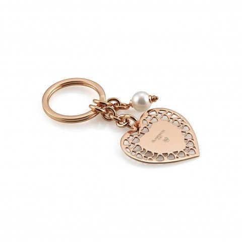 Brass_and_Bronze_Key_Rings_with_heart_Key_rings_for_her_with_love_symbol