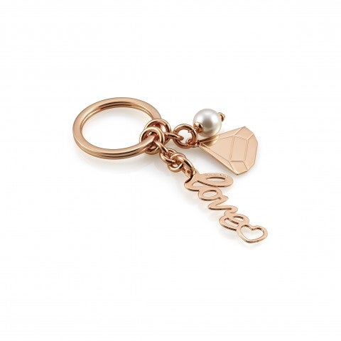 Brass_and_Bronze_Key_Rings_with_diamond_and_love_Key_rings_for_her_with_elegante_symbol