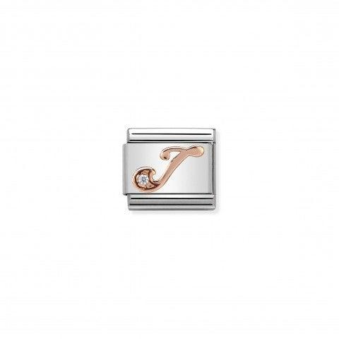 Link_Composable_Classic_Lettera_J_in_Oro_Rosa_e_Pietra_Link_in_Oro_rosa_e_Cubic_Zirconia