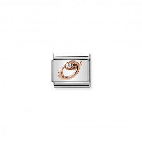 Link_Composable_Classic_Lettera_O_in_Oro_Rosa_e_Pietra_Link_con_lettera_O_in_Oro_rosa_375_e_Zircone
