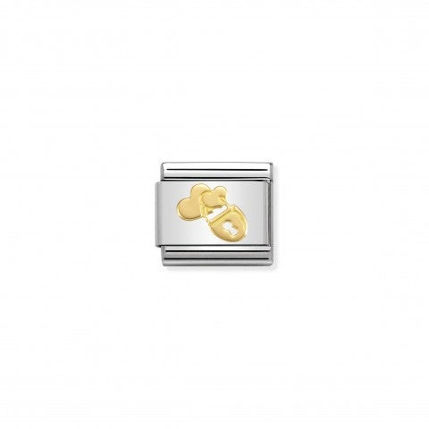Composable_Classic_Link_Lock_and_Hearts_Link_in_stainless_steel_with_18K_gold_symbol